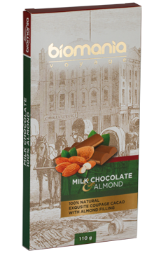 Delicious Milk chocolate with Almond nuts paste's image