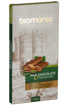 Delicious Milk chocolate with pistachio nuts paste's image