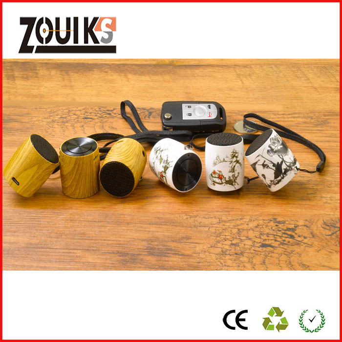 zouiks drum mini speaker SD-001 ,beautiful  pattern with remote camera's image